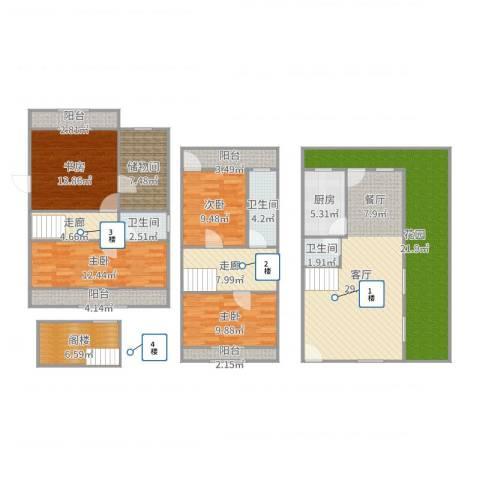 嘉年别墅4室1厅3卫1厨188.00㎡户型图