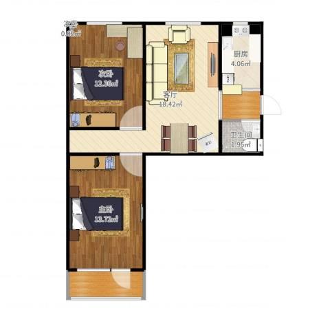 刘家窑南里3室1厅1卫1厨69.00㎡户型图