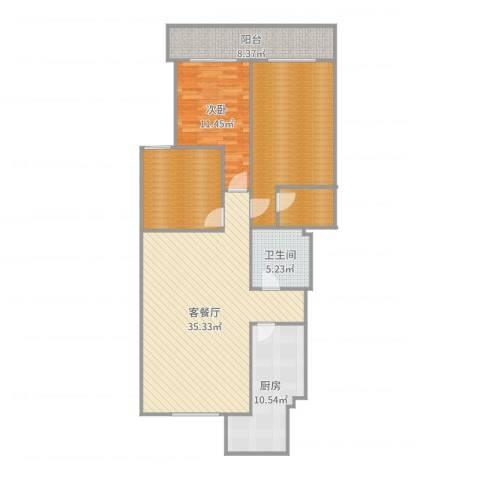 金源山居21室2厅1卫1厨128.00㎡户型图