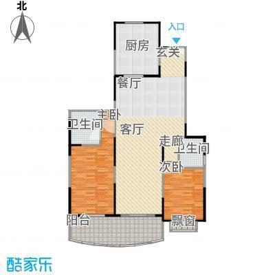 扬子江家园120.00㎡房型: 二房; 面积段: 120 -130 平方米;户型