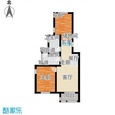 长瀛御龙湾两室两厅一卫 77-85平米户型