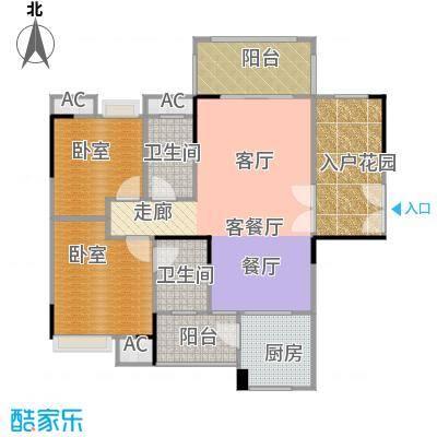 远洋启宸93.00㎡10栋01单位93平米二房户型图户型2室2厅2卫