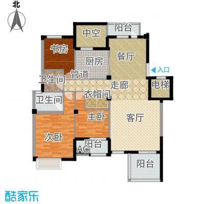 海棠湾花园144.02㎡海棠湾花园户型图洋房HY-F3室2厅2卫1厨户型3室2厅2卫1厨