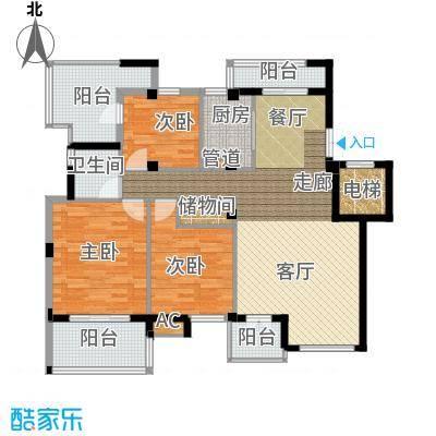 海棠湾花园116.09㎡海棠湾花园户型图洋房HY-K3室2厅1卫1厨户型3室2厅1卫1厨