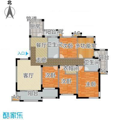 海棠湾花园178.59㎡海棠湾花园户型图小高层DY-J5室2厅2卫1厨户型5室2厅2卫1厨