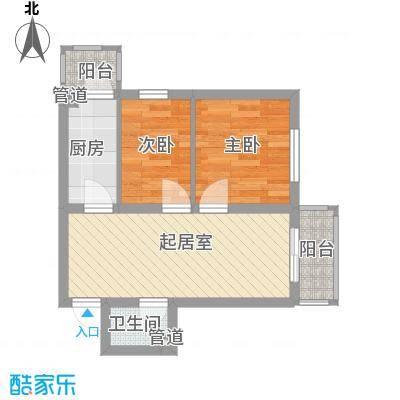 江城之珠55.07㎡江城之珠户型图03户型图2室1厅1卫1厨户型2室1厅1卫1厨
