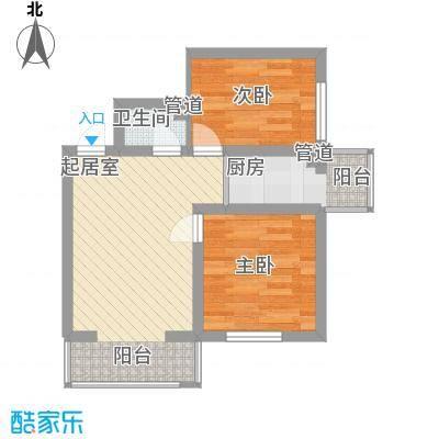 江城之珠55.38㎡江城之珠户型图06户型图2室1厅1卫1厨户型2室1厅1卫1厨