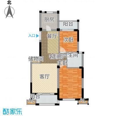 海棠湾花园90.74㎡海棠湾花园户型图高层GA2室2厅1卫户型2室2厅1卫