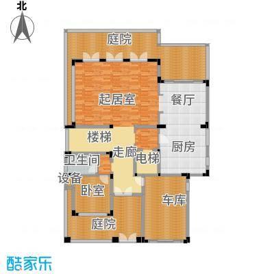 氧立方森林公馆450.00㎡独栋别墅1层C1户型1卫
