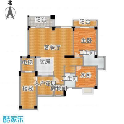 氧立方森林公馆120.00㎡花园洋房A1户型2室1厅2卫