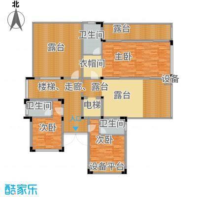 氧立方森林公馆450.00㎡独栋别墅2层C1户型3室3卫