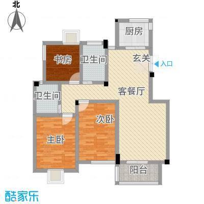 五一花园113.80㎡五一花园户型图3室2厅2卫1厨户型10室