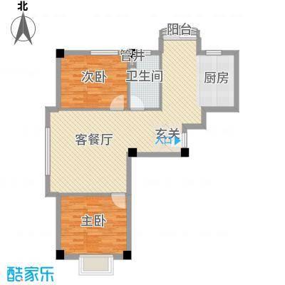 兰溪文苑87.60㎡兰溪文苑2室户型2室
