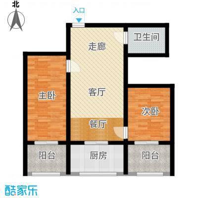 皇城西岸83.47㎡皇城西岸户型图户型图2室2厅1卫1厨户型2室2厅1卫1厨
