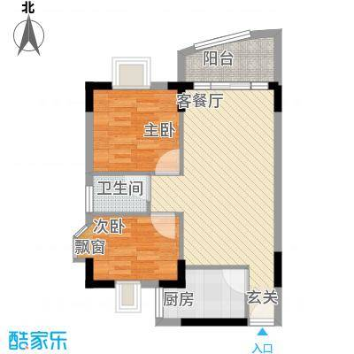 丽水湾55.50㎡丽水湾户型图2室2厅户型图2室2厅1卫1厨户型2室2厅1卫1厨