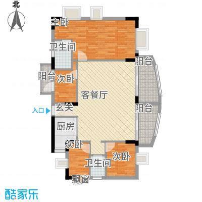 丽水湾126.00㎡丽水湾户型图4室2厅户型图4室2厅2卫1厨户型4室2厅2卫1厨