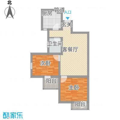 兴海苑80.00㎡兴海苑2室户型2室