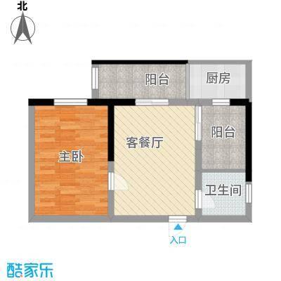兴海苑62.00㎡兴海苑2室户型2室