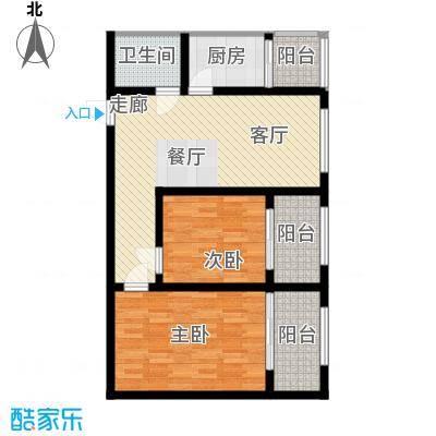 皇城西岸78.03㎡皇城西岸户型图户型图2室2厅1卫1厨户型2室2厅1卫1厨