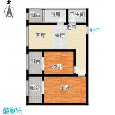 皇城西岸76.45㎡皇城西岸户型图户型图2室2厅1卫1厨户型2室2厅1卫1厨