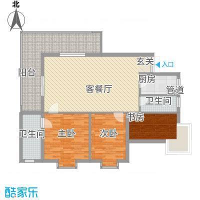 兴海苑122.00㎡兴海苑3室户型3室