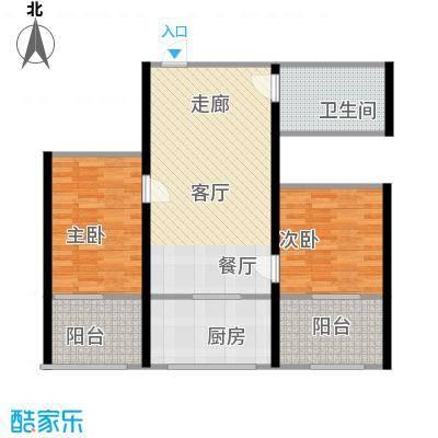 皇城西岸83.45㎡皇城西岸户型图户型22室2厅1卫1厨户型2室2厅1卫1厨