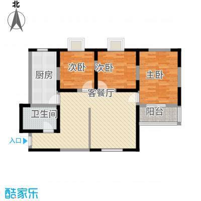 兴海苑82.00㎡兴海苑3室户型3室