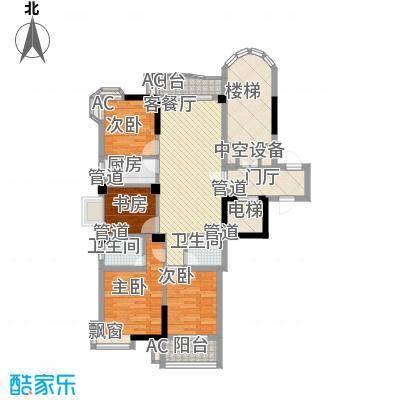 香江世纪名城户型图4室2厅2卫1厨