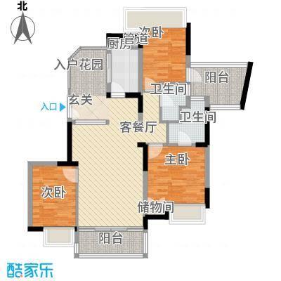 逸涛半岛118.00㎡逸涛半岛3室户型3室