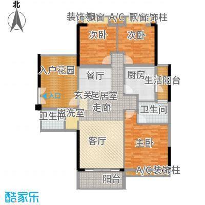 奥园海景城户型图B1栋01户型、B2栋03户型 3室2厅2卫1厨