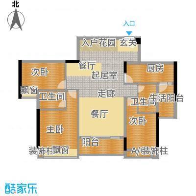 奥园海景城户型图B1栋B2栋02户型 3室2厅2卫1厨