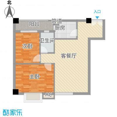 蓝钻星城78.19㎡蓝钻星城户型图D05都市探戈2室2厅1卫1厨户型2室2厅1卫1厨