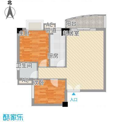 蓝钻星城81.46㎡蓝钻星城户型图D6水晶银座2室2厅1卫1厨户型2室2厅1卫1厨