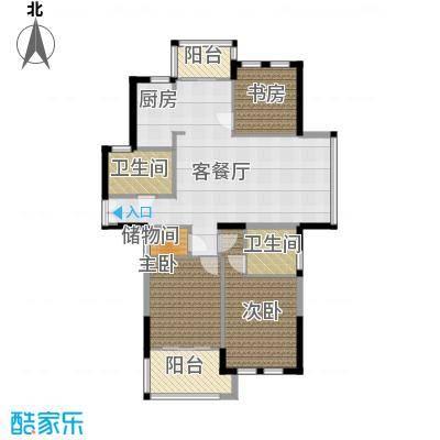 金沙阳光105.93㎡户型3室1厅2卫