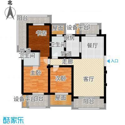 东宝康园122.00㎡东宝康园户型图洋房5、7#楼A3户型3室2厅2卫户型3室2厅2卫