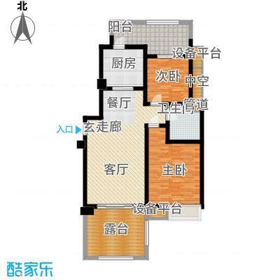 东宝康园109.00㎡东宝康园户型图高层13、14#楼G1户型2室2厅1卫户型2室2厅1卫
