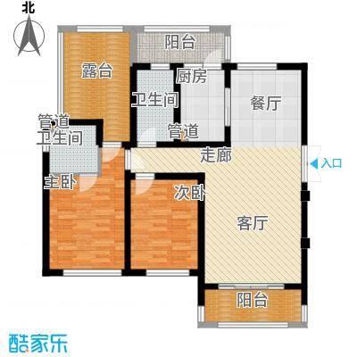 东宝康园110.00㎡东宝康园户型图洋房5、7#楼A4户型2室2厅2卫户型2室2厅2卫