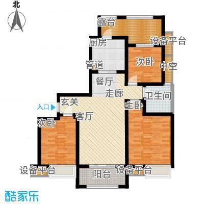 东宝康园115.00㎡东宝康园户型图高层13、14#楼G3户型3室2厅1卫户型3室2厅1卫