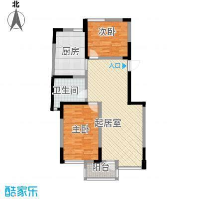 长江绿岛三期104.20㎡长江绿岛三期户型图A82室2厅1卫户型2室2厅1卫