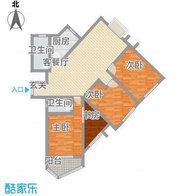 首席139.69㎡首席户型图3室2厅2卫1厨户型10室