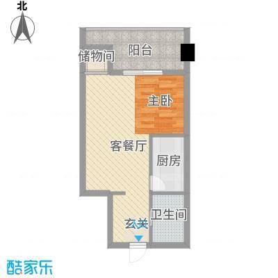 冠亚广场55.27㎡冠亚广场户型图1室1厅1卫1厨户型10室