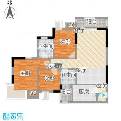 中惠沁林山庄88.00㎡中惠沁林山庄户型10室