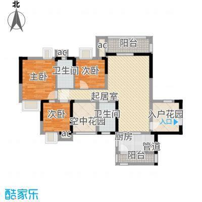 中惠沁林山庄114.55㎡中惠沁林山庄户型10室