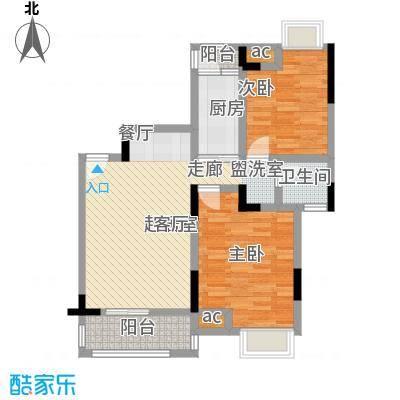 中惠沁林山庄80.00㎡中惠沁林山庄户型图花庭美墅22、23号楼1层02户型户型10室