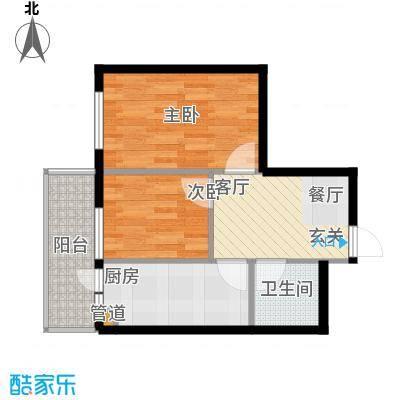 仁礼星座44.67㎡两室一厅44.67平方米户型2室1厅1卫1厨