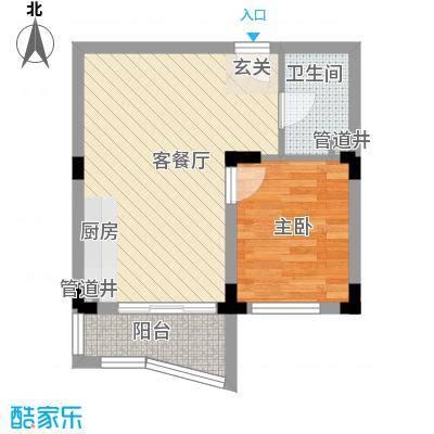 新世纪华庭50.03㎡新世纪华庭户型10室