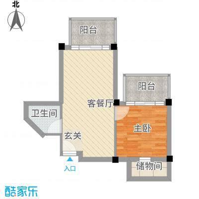 润扬广场53.00㎡润扬广场1室户型1室