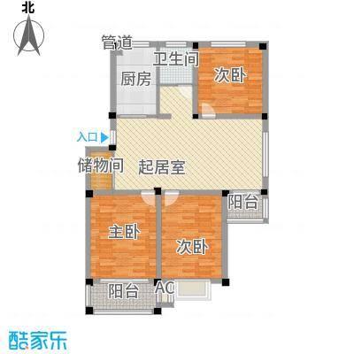 华夏星辰122.10㎡华夏星辰户型图B33室2厅2卫1厨户型3室2厅2卫1厨