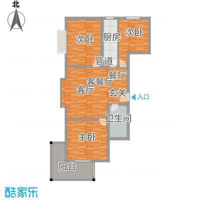 华旗地和苑108.62㎡三室一厅一卫108.62户型3室1厅1卫1厨