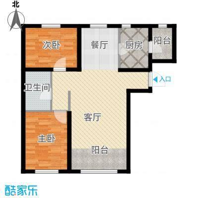 金昌国际91.54㎡A1户型2室2厅1卫